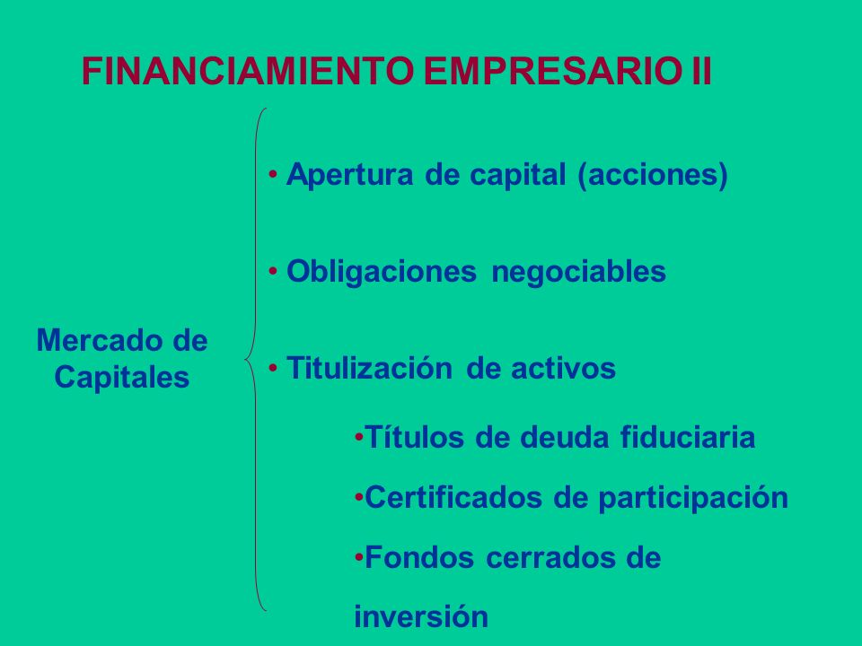 FINANCIAMIENTO EMPRESARIO II