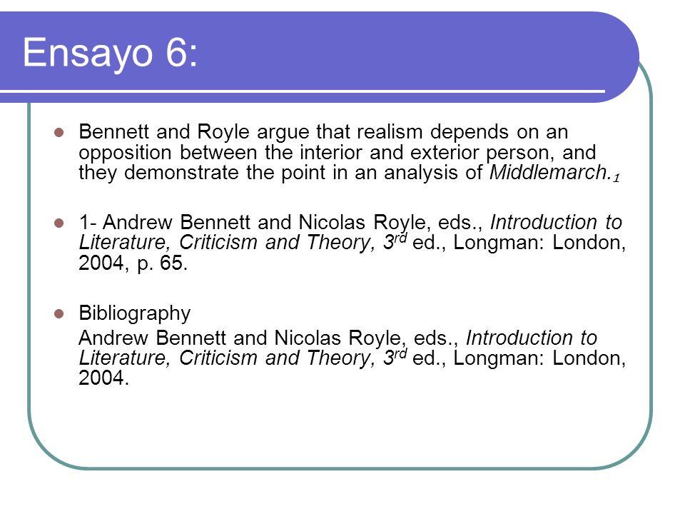 Ensayo 6: