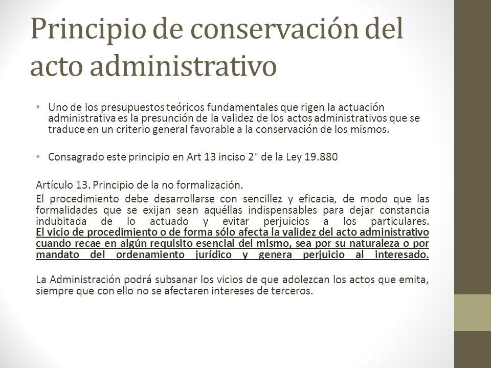 Principio de conservación del acto administrativo