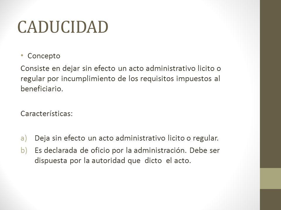 CADUCIDAD Concepto.