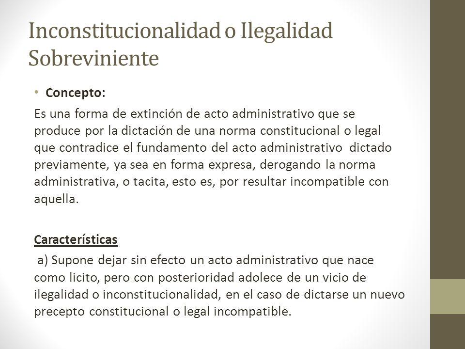 Inconstitucionalidad o Ilegalidad Sobreviniente
