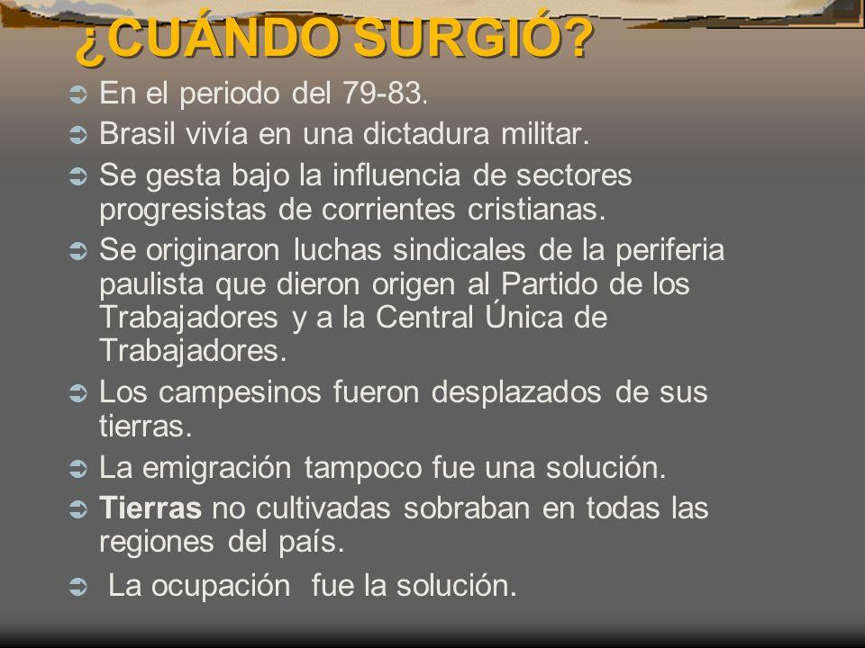 ¿CUÁNDO SURGIÓ En el periodo del 79-83.