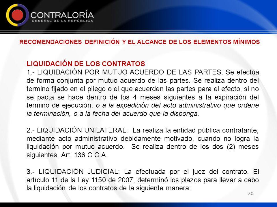 RECOMENDACIONES DEFINICIÓN Y EL ALCANCE DE LOS ELEMENTOS MÍNIMOS