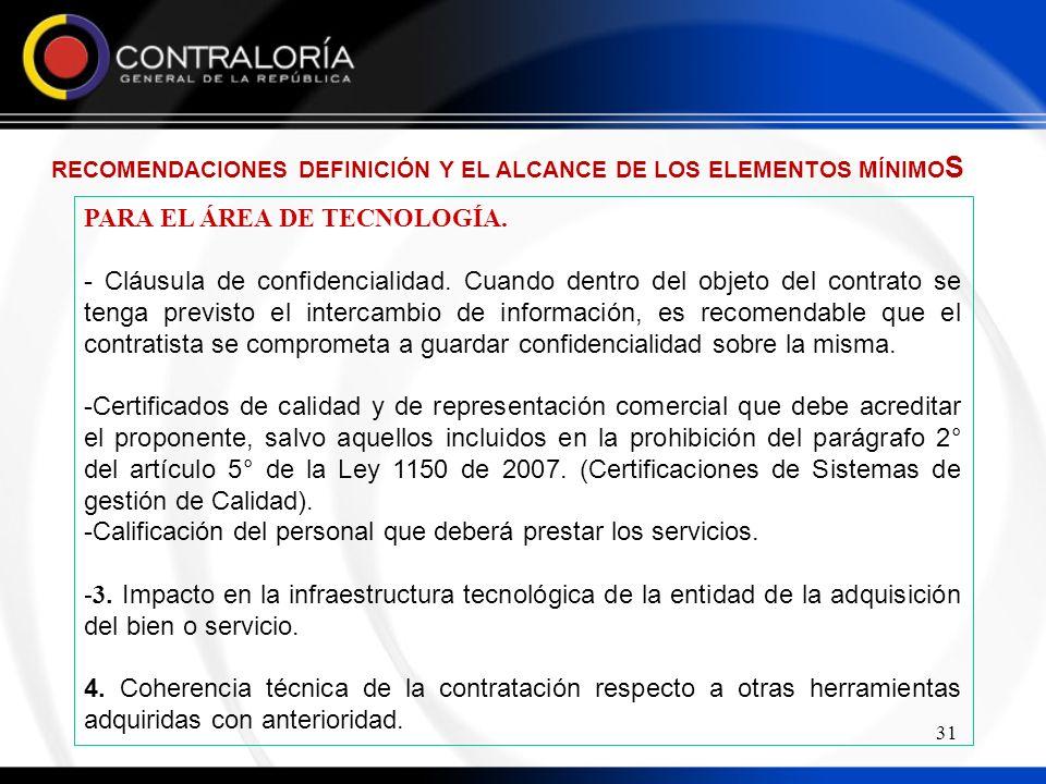 PARA EL ÁREA DE TECNOLOGÍA.