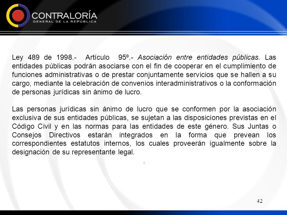 Ley 489 de 1998. - Artículo 95º. - Asociación entre entidades públicas