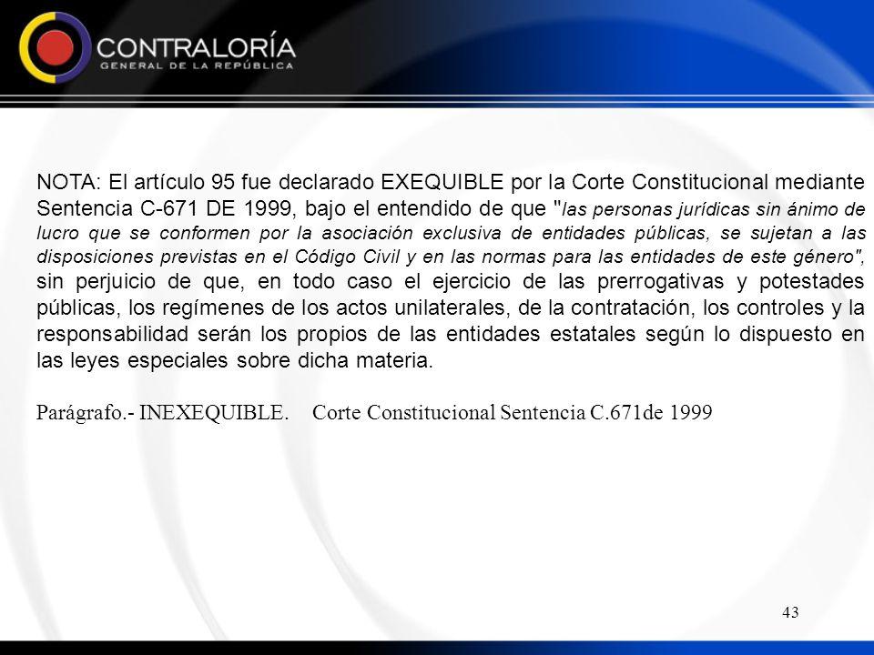 Parágrafo.- INEXEQUIBLE. Corte Constitucional Sentencia C.671de 1999