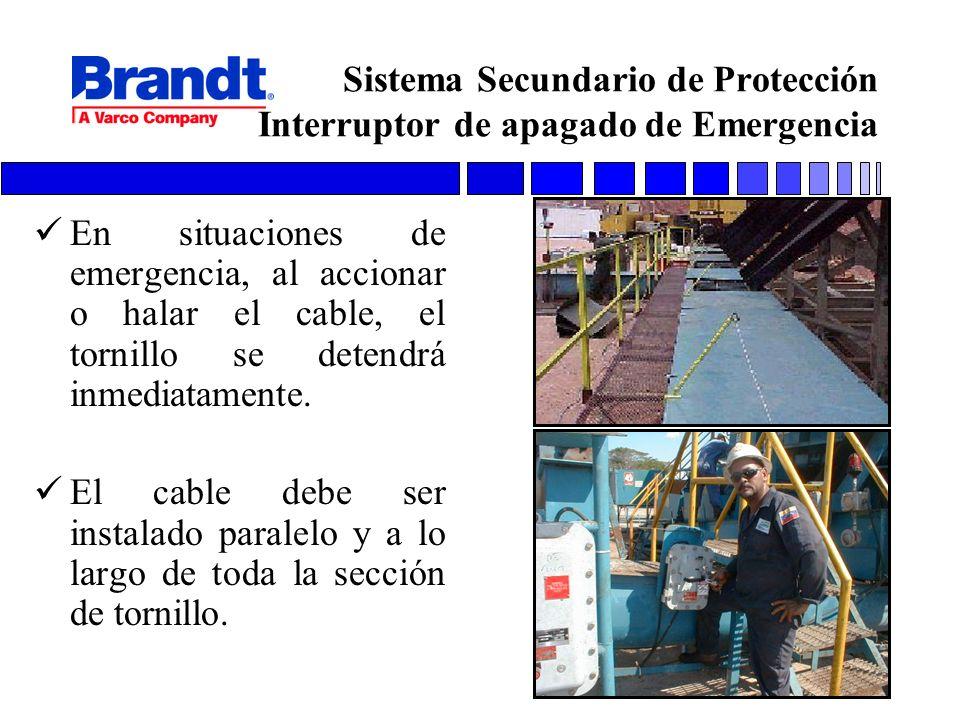 Sistema Secundario de Protección Interruptor de apagado de Emergencia