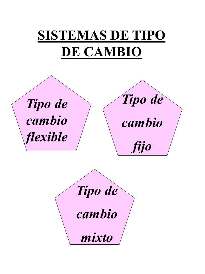 SISTEMAS DE TIPO DE CAMBIO