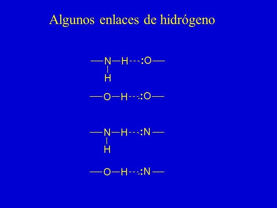 Algunos enlaces de hidrógeno