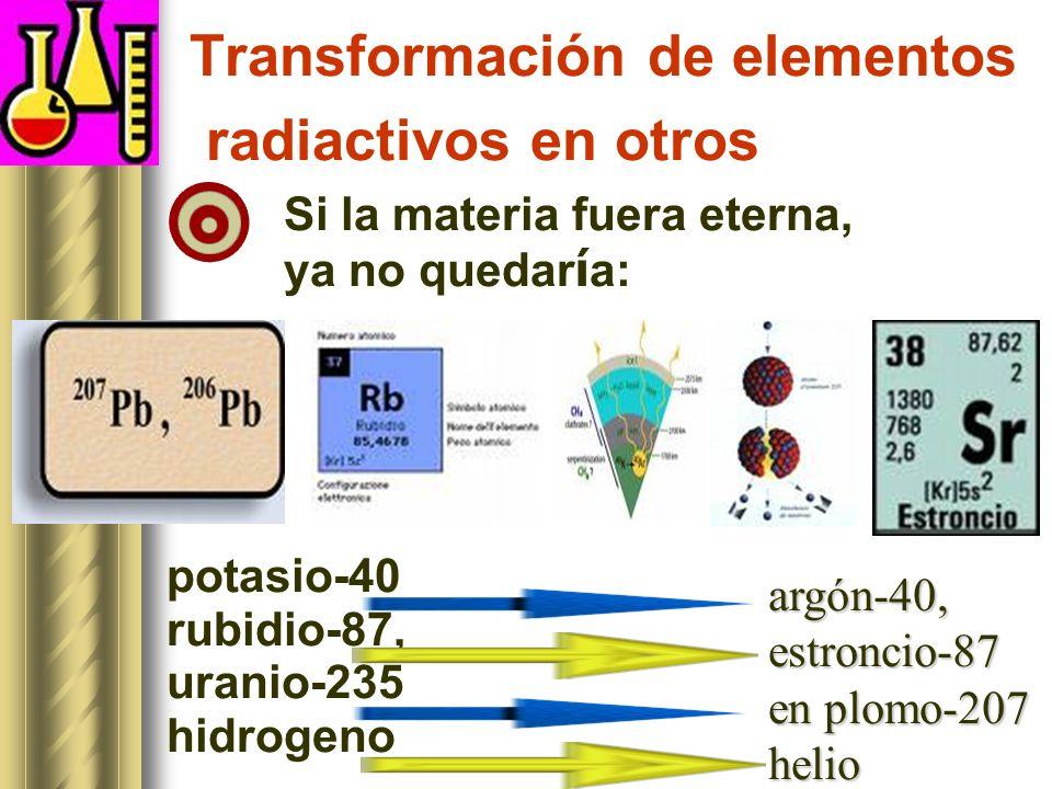 Transformación de elementos radiactivos en otros