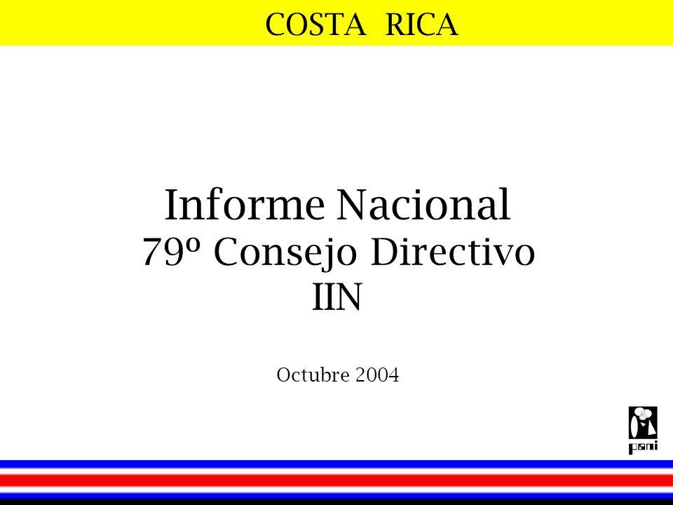 Informe Nacional 79º Consejo Directivo IIN Octubre 2004
