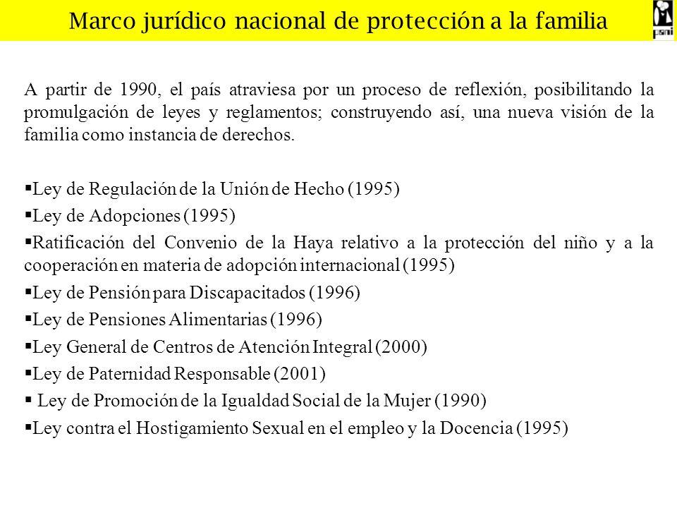 Marco jurídico nacional de protección a la familia