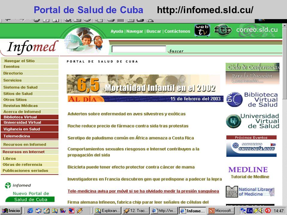 Portal de Salud de Cuba http://infomed.sld.cu/