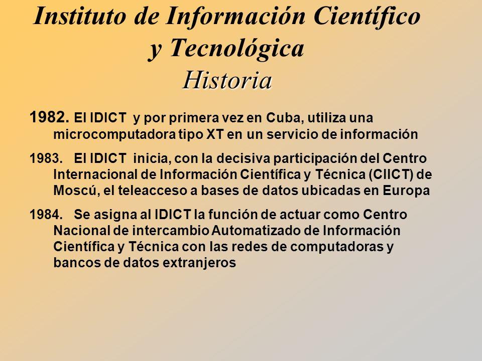 Instituto de Información Científico y Tecnológica Historia
