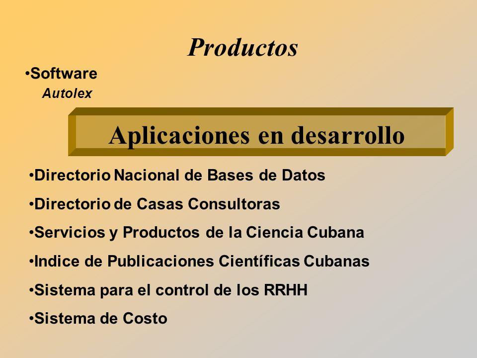 Aplicaciones en desarrollo