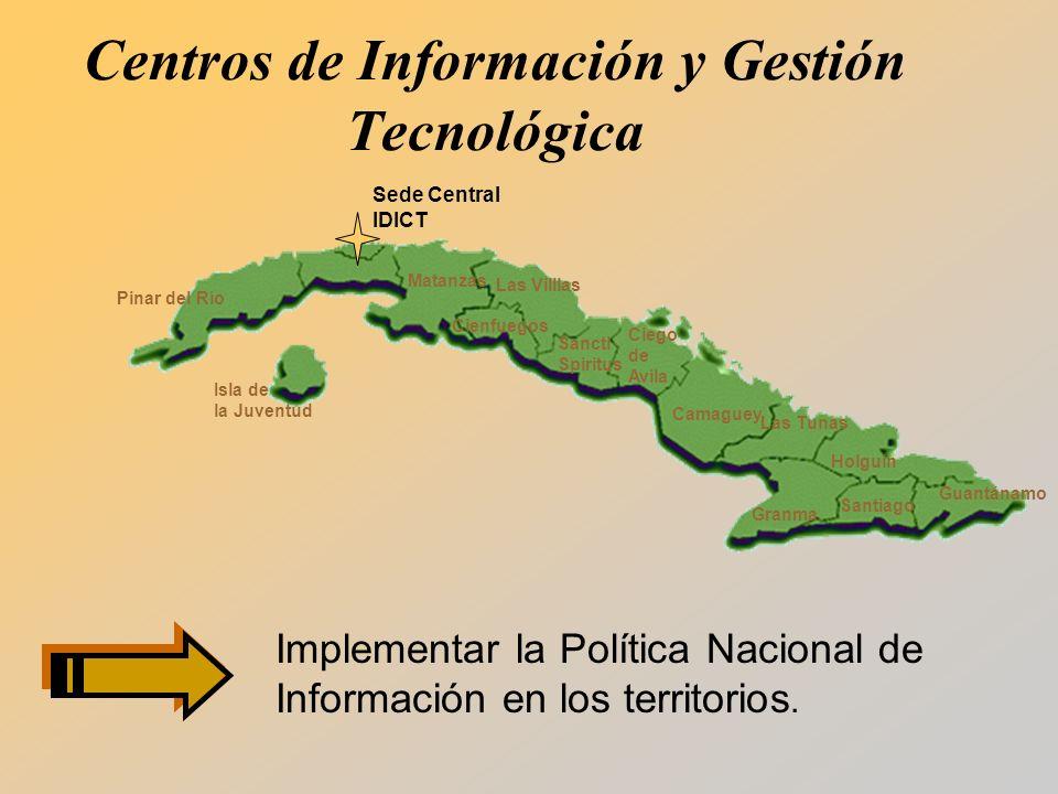 Centros de Información y Gestión Tecnológica