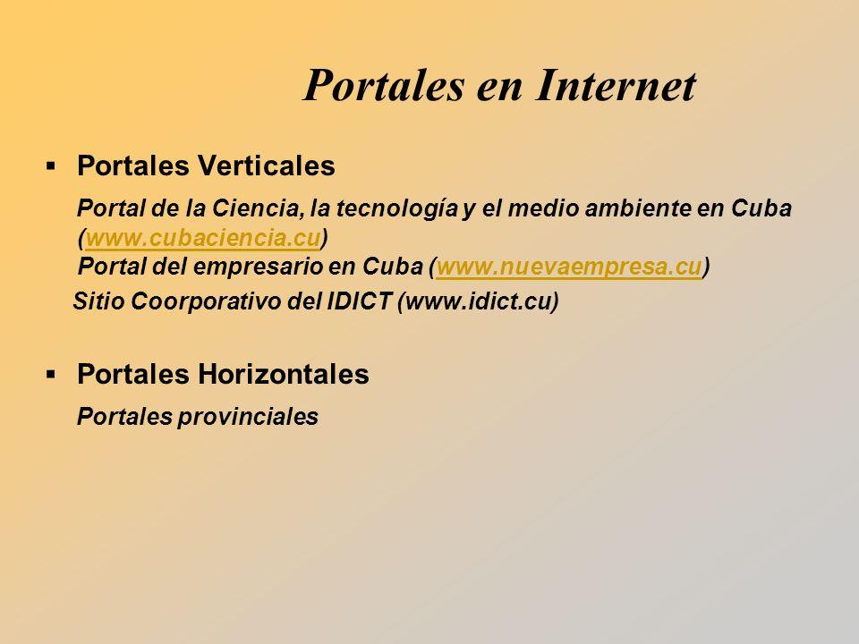 Portales en Internet Portales Verticales