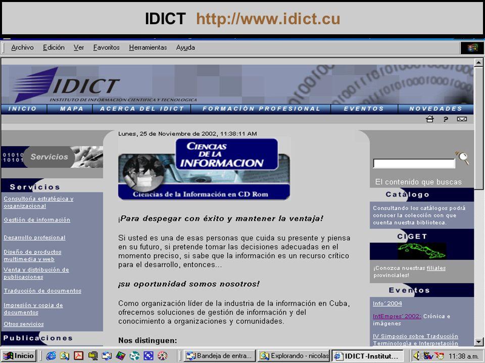 IDICT http://www.idict.cu