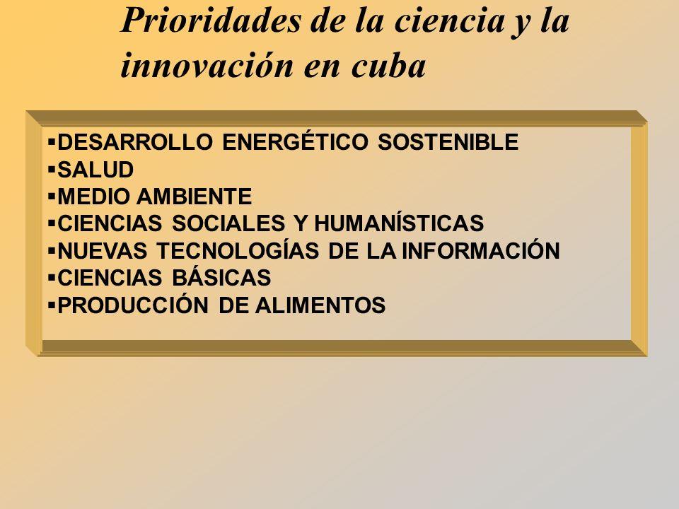 Prioridades de la ciencia y la innovación en cuba