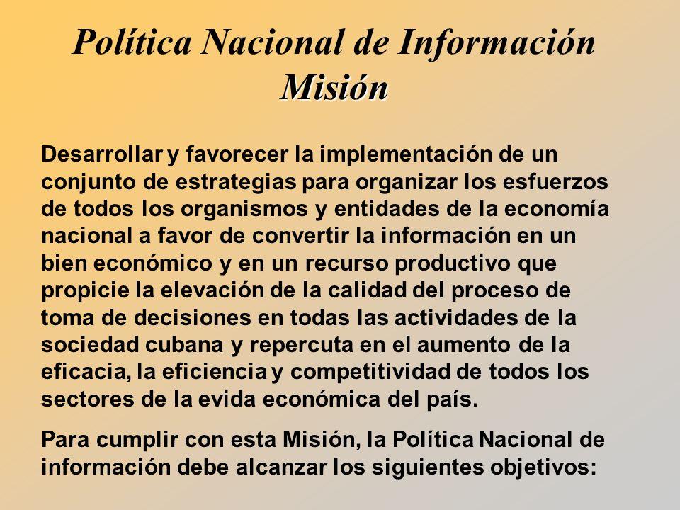 Política Nacional de Información Misión