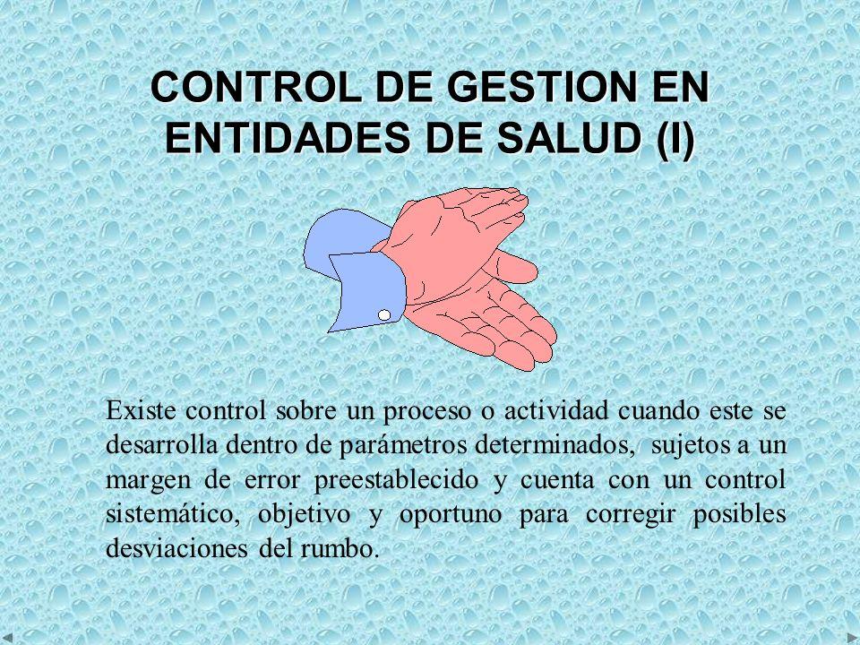 CONTROL DE GESTION EN ENTIDADES DE SALUD (I)