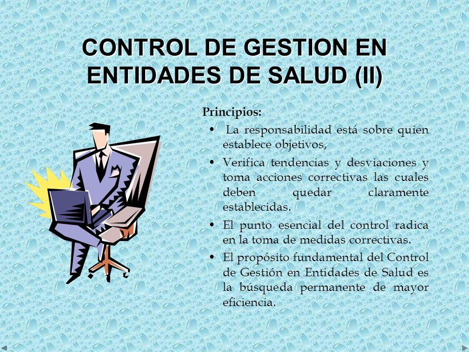 CONTROL DE GESTION EN ENTIDADES DE SALUD (II)