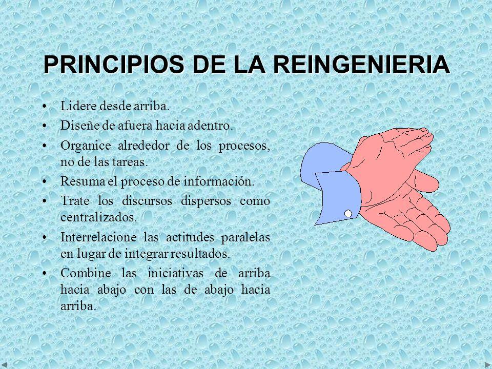 PRINCIPIOS DE LA REINGENIERIA