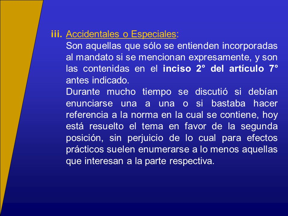 iii. Accidentales o Especiales:
