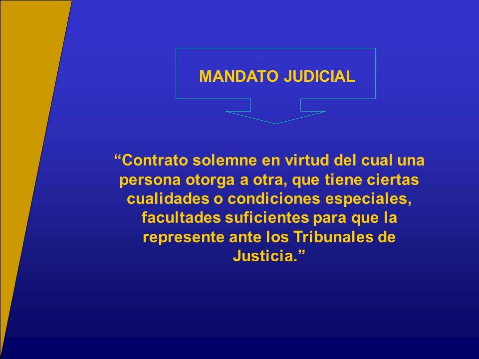 MANDATO JUDICIAL