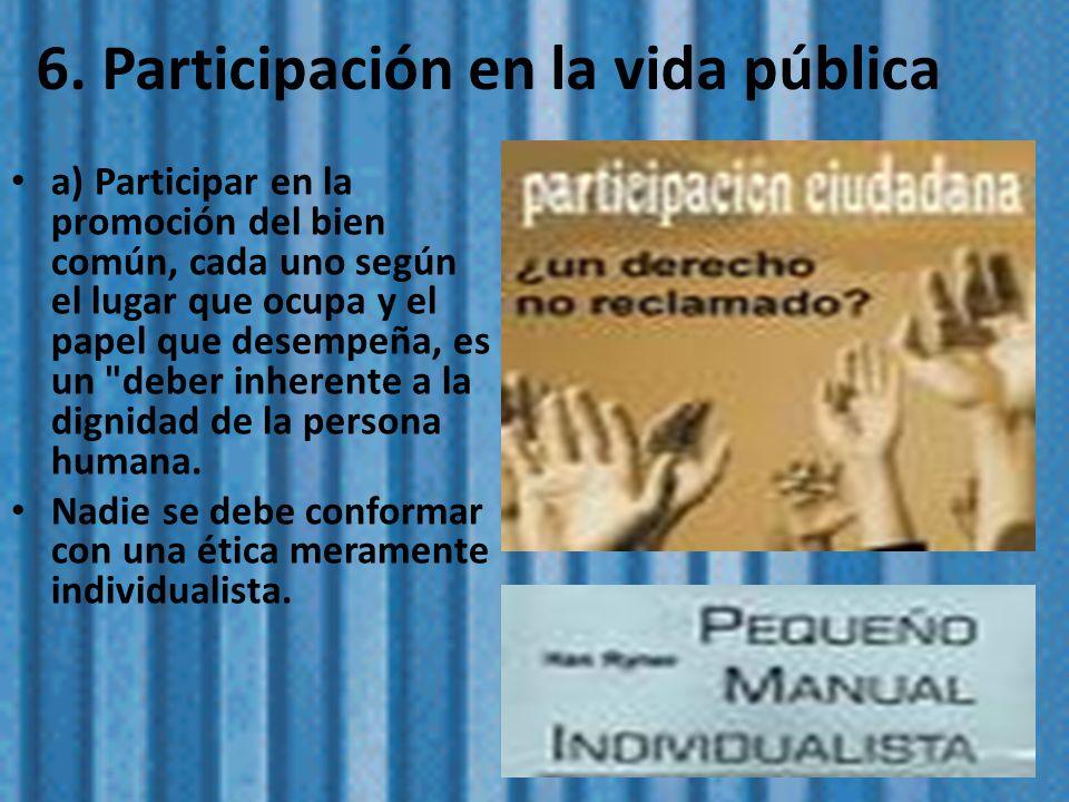 6. Participación en la vida pública