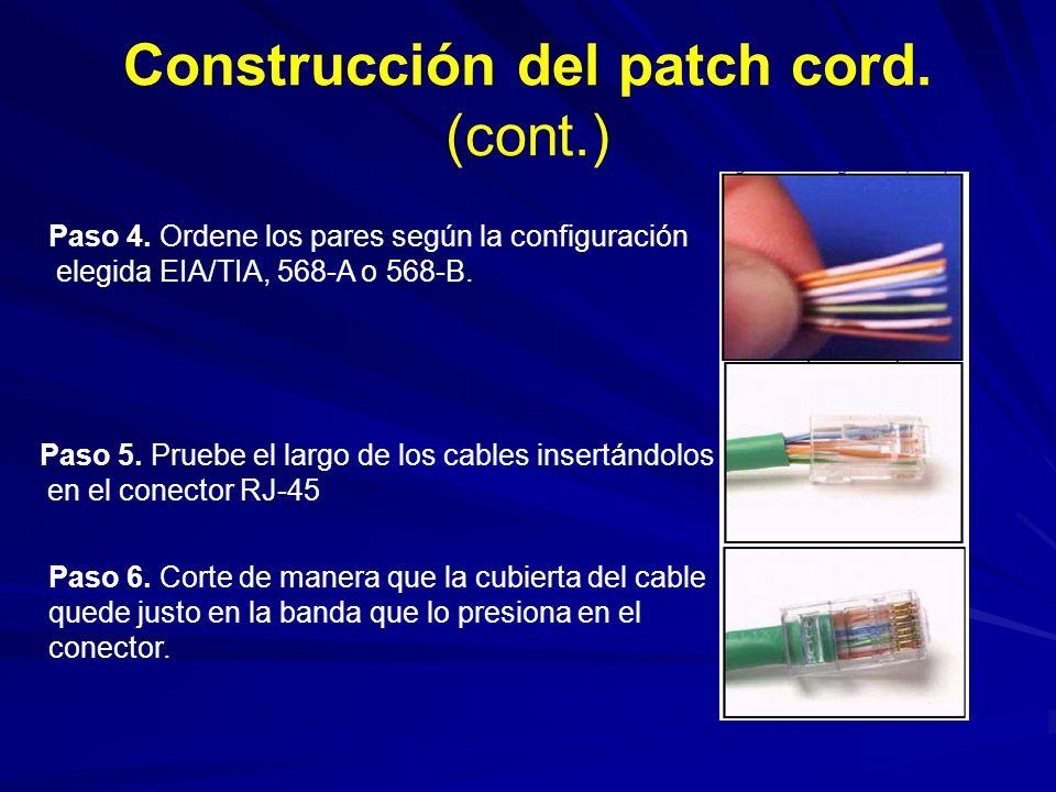 Construcción del patch cord. (cont.)