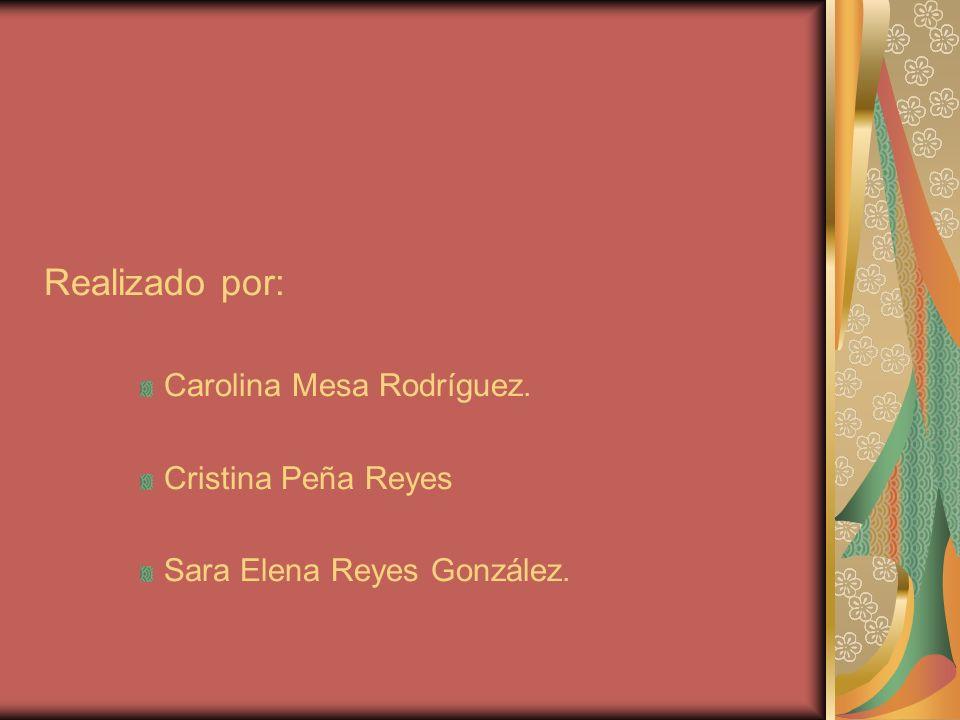 Realizado por: Carolina Mesa Rodríguez. Cristina Peña Reyes