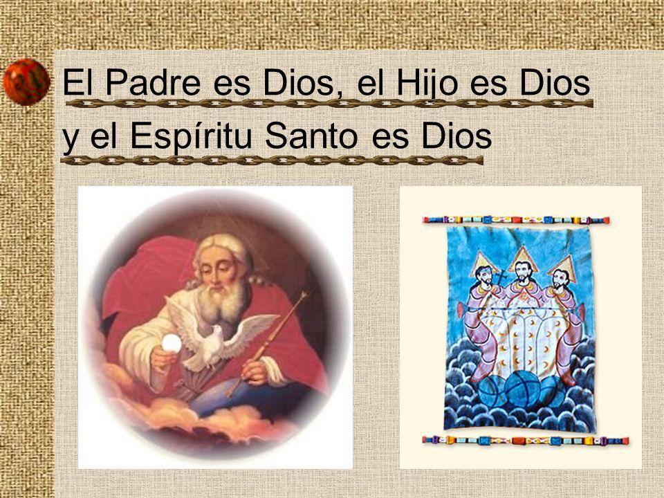 El Padre es Dios, el Hijo es Dios