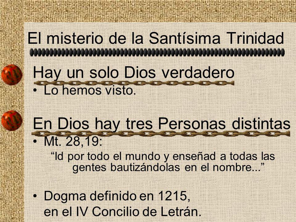 El misterio de la Santísima Trinidad