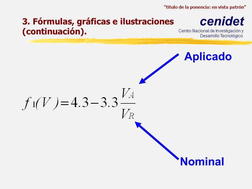 3. Fórmulas, gráficas e ilustraciones (continuación).