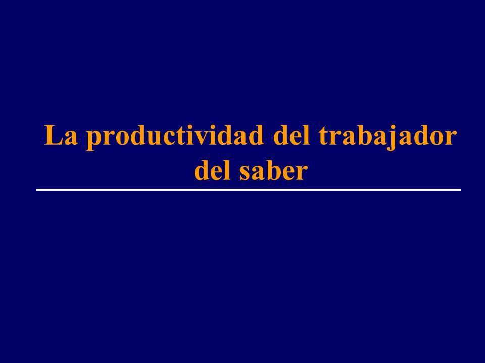 La productividad del trabajador del saber