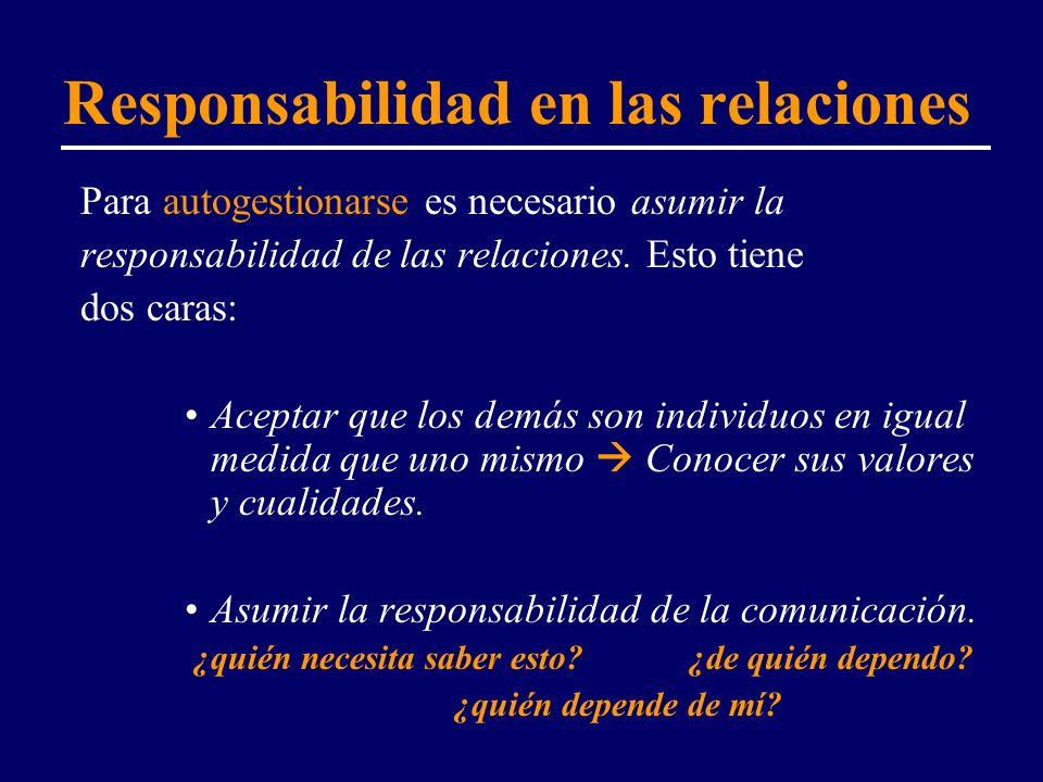 Responsabilidad en las relaciones