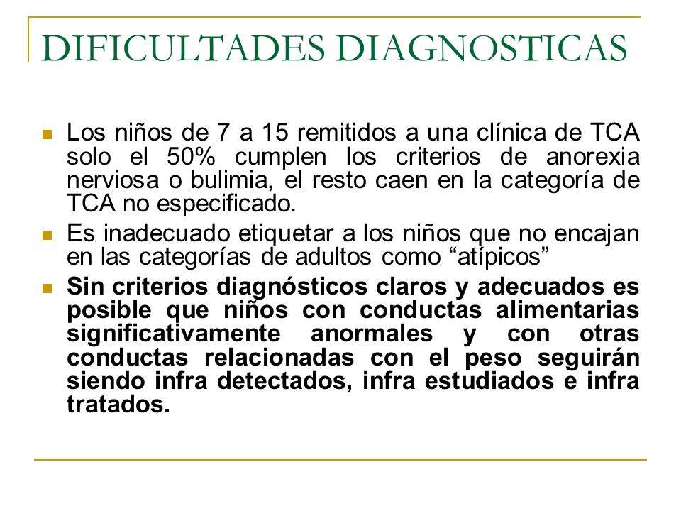 DIFICULTADES DIAGNOSTICAS