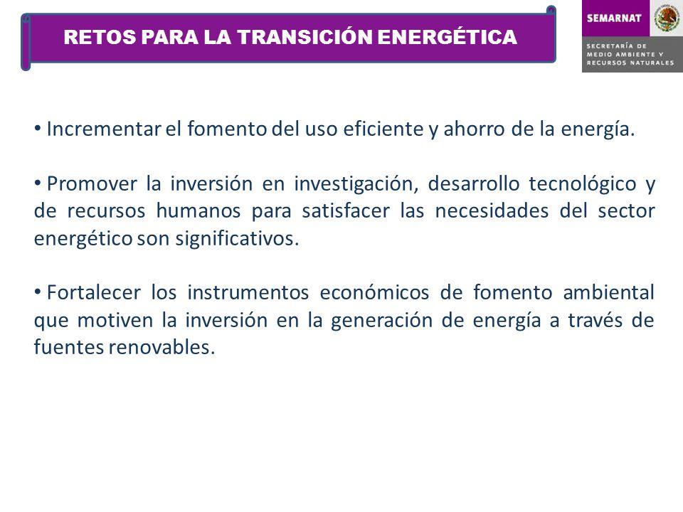 RETOS PARA LA TRANSICIÓN ENERGÉTICA