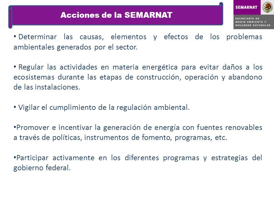 Acciones de la SEMARNAT