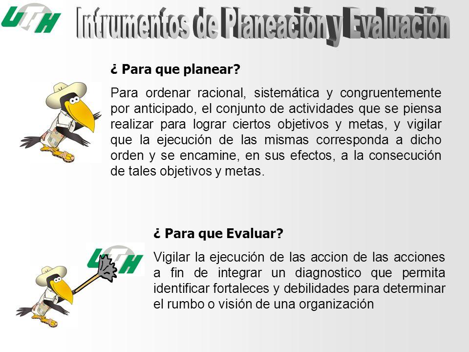 Intrumentos de Planeación y Evaluación