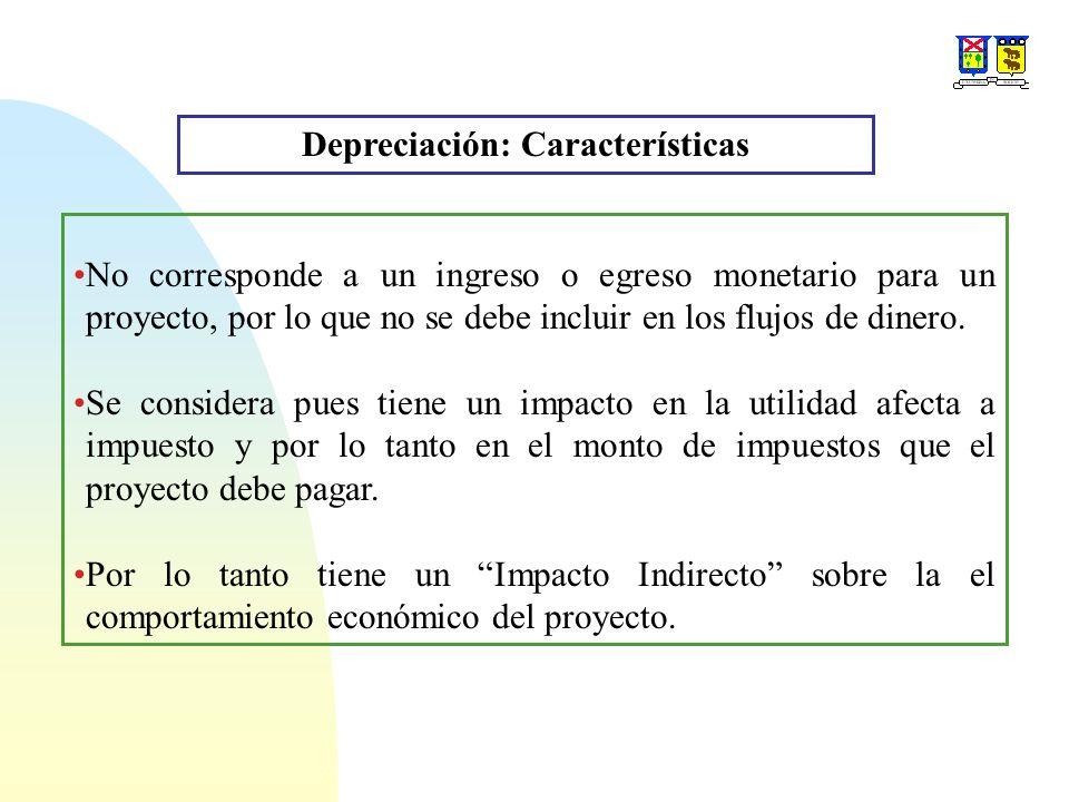 Depreciación: Características
