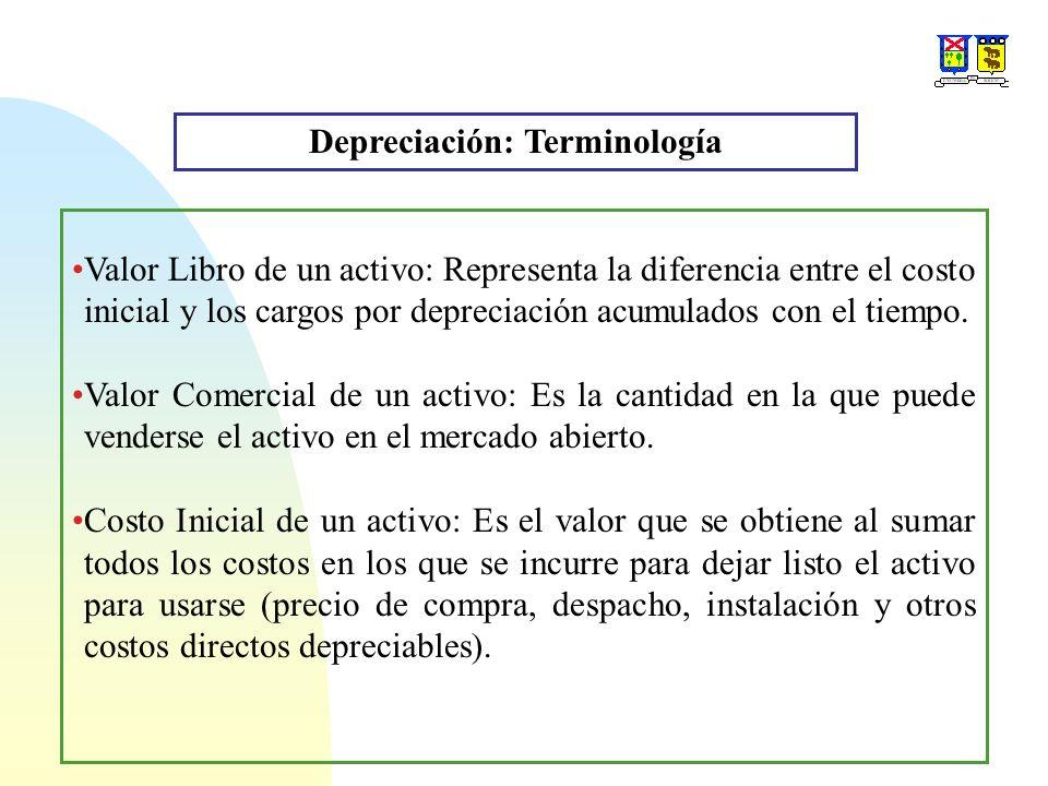 Depreciación: Terminología