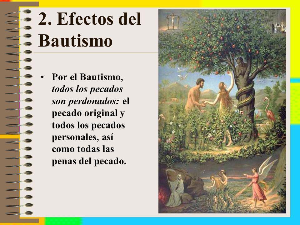 2. Efectos del Bautismo