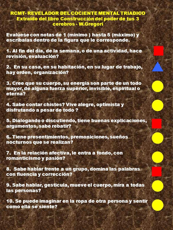RCMT- REVELADOR DEL COCIENTE MENTAL TRIADICO