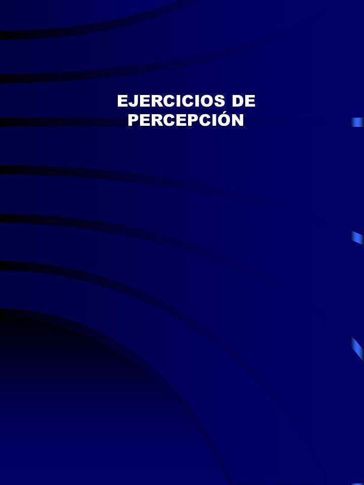 EJERCICIOS DE PERCEPCIÓN