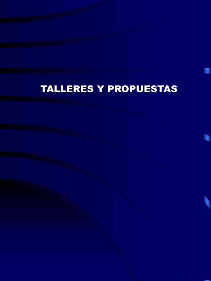 TALLERES Y PROPUESTAS
