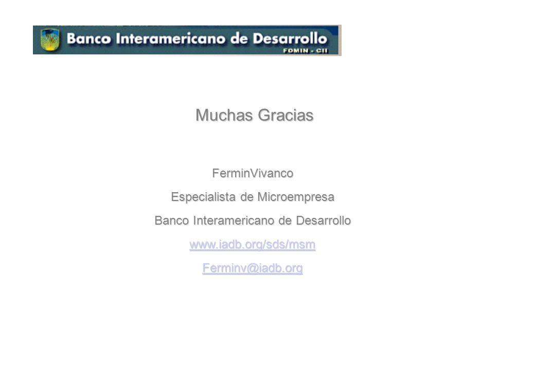 Muchas Gracias FerminVivanco Especialista de Microempresa
