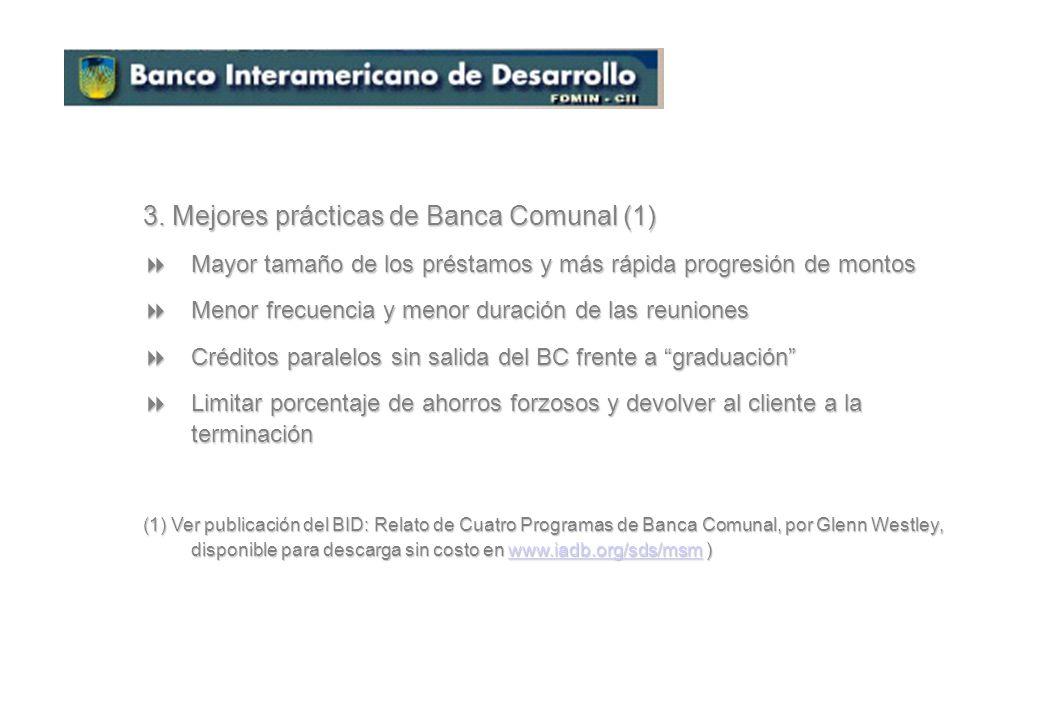 3. Mejores prácticas de Banca Comunal (1)