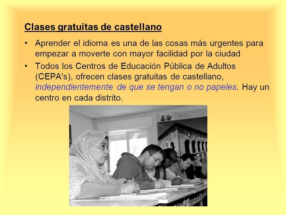 Clases gratuitas de castellano